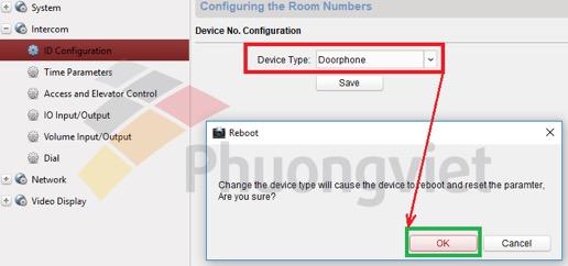 Thiết lập chế độ Doorphone cho các thiết bị chuông cửa
