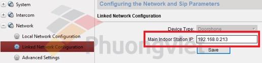 Điền địa chỉ IP của màn hình tương ứng vào ô khoanh đỏ